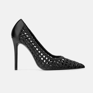 NEW Black Woven High Heels